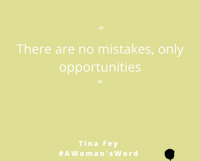 Tina Fey on Mistakes and Opportunities