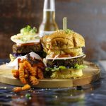 Veggies Burger Served With Pineapple Salsa