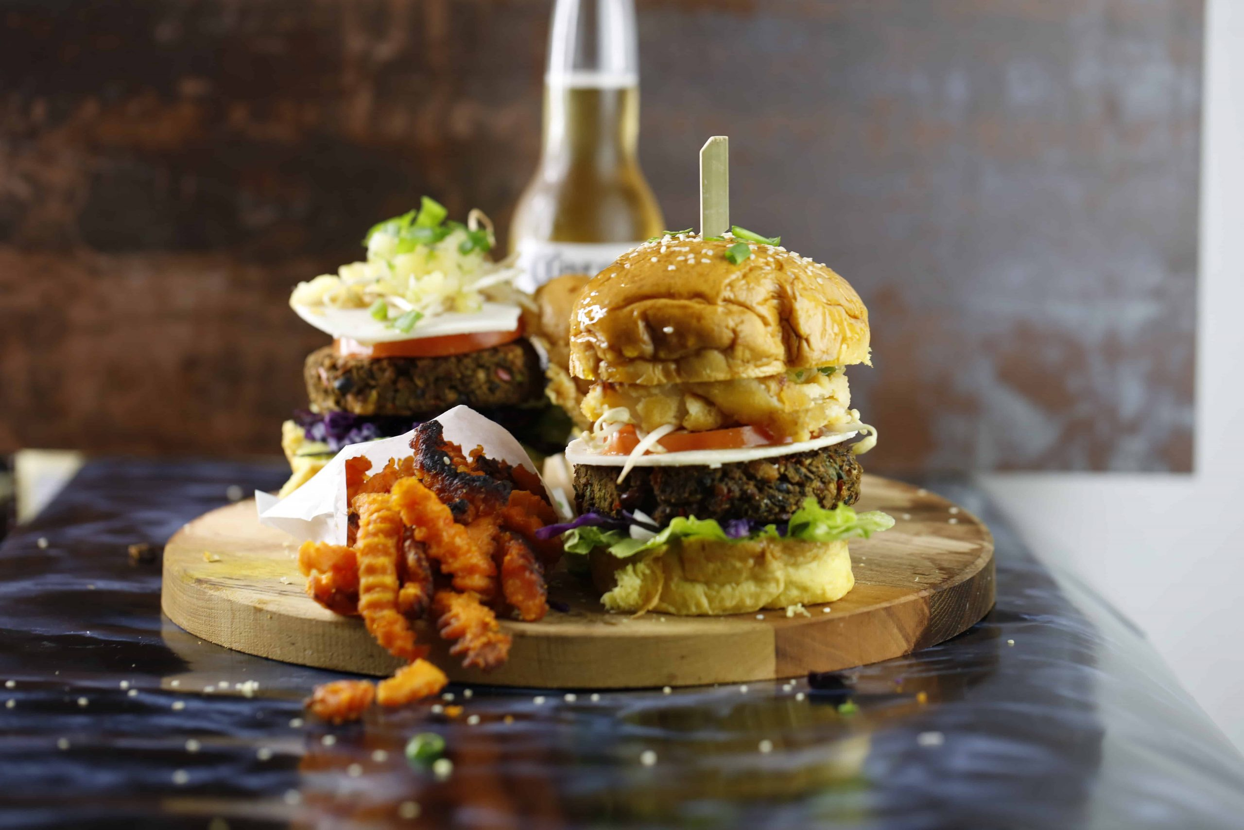 This Is The Best Veggie Burger Ever, Served With A Pineapple Twist