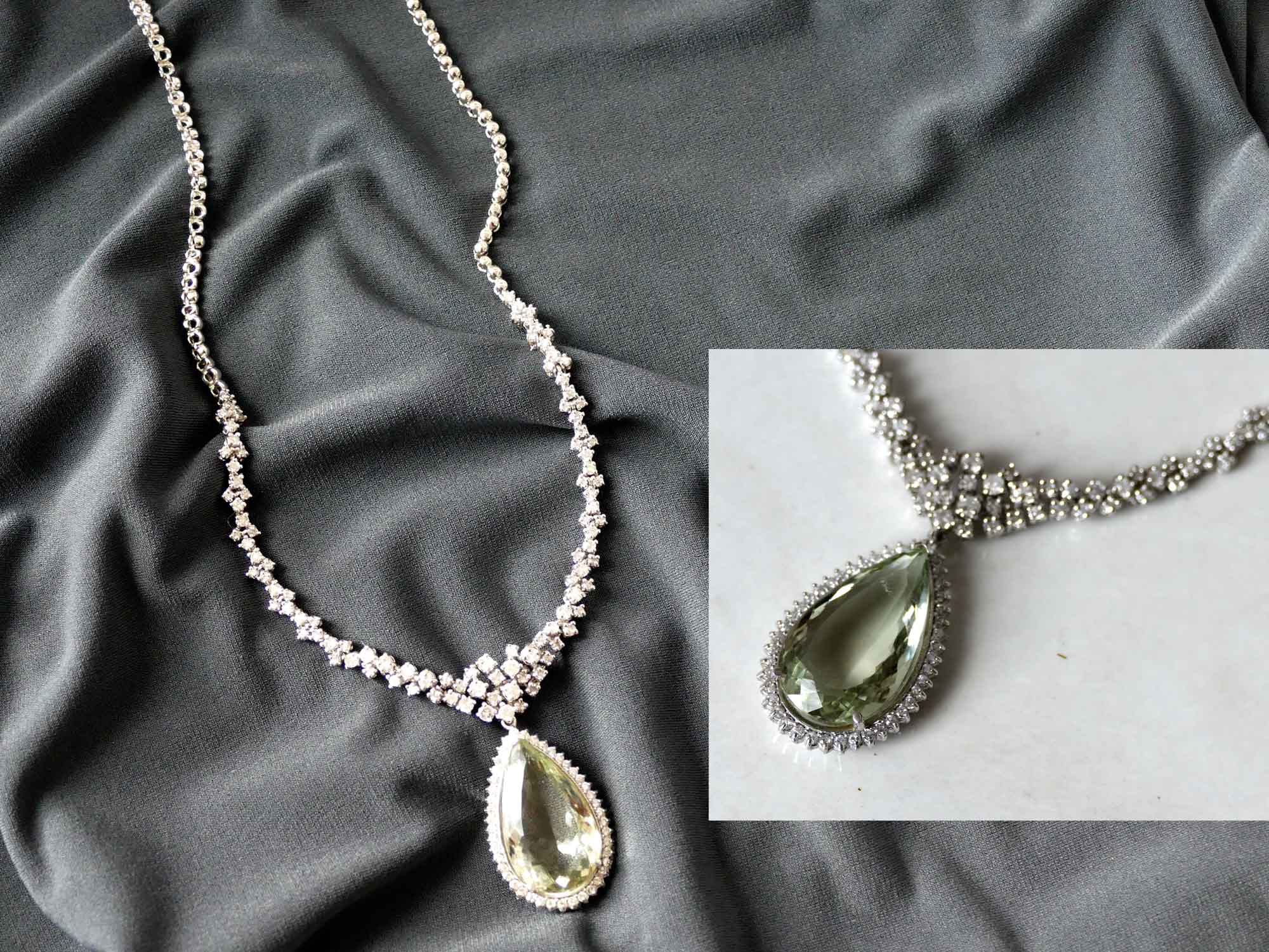 dc26fd24bd5 GREEN AMETHYST DIAMOND SET AT THE GALLERY - Forward Forty