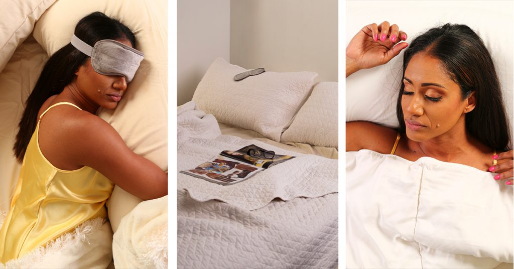 Woman At Sleep In Bed