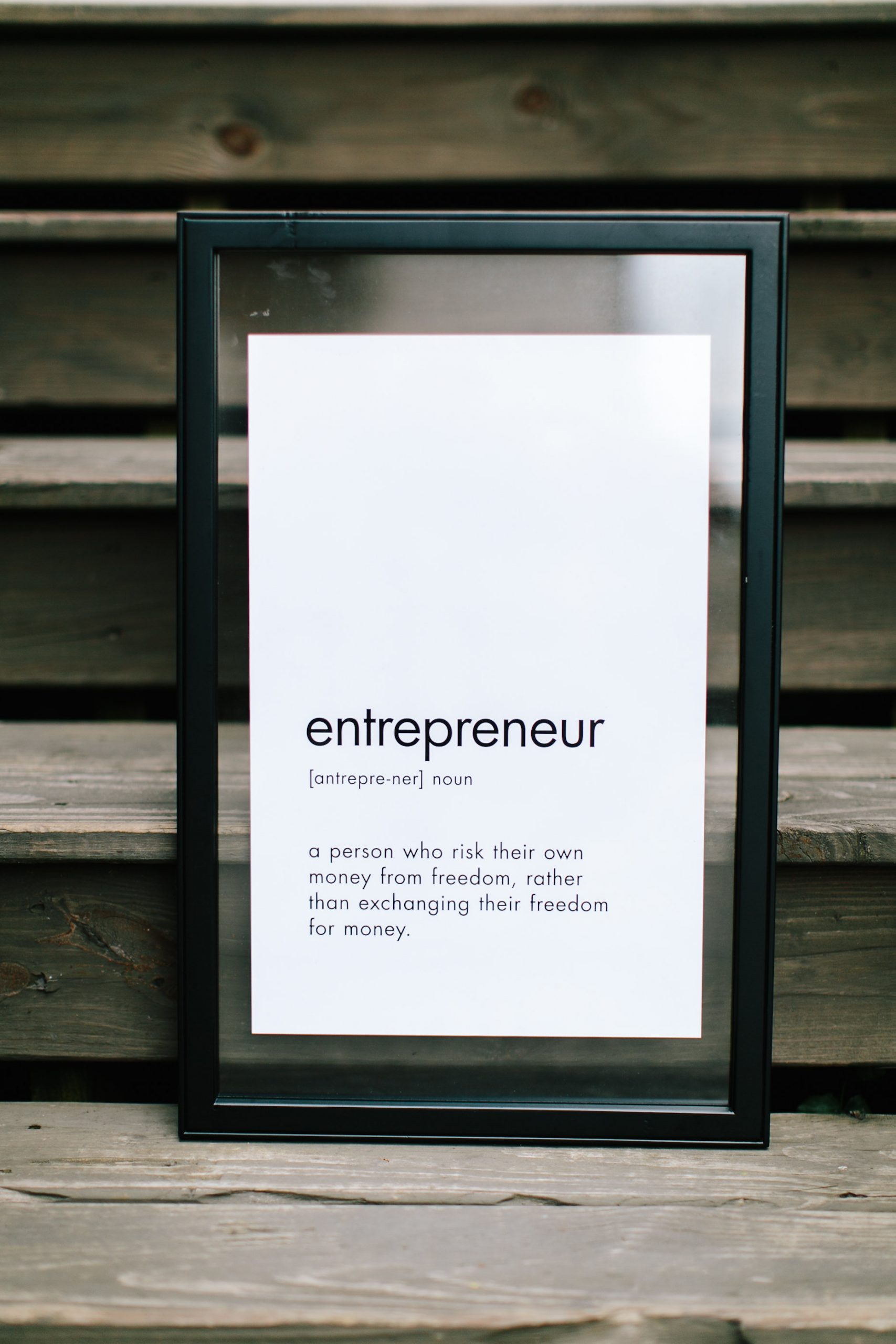 A sign for entrepreneurs need to build systems to succeed online